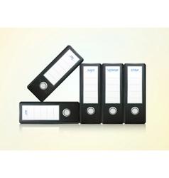office folders binder vector image vector image