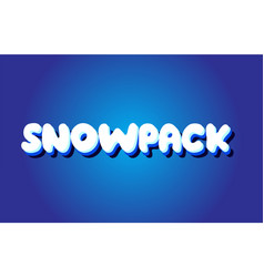 snowpack text 3d blue white concept design logo vector image vector image