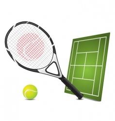 tennis design elements vector image