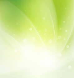 Abstract smooth fresh green flow background vector image