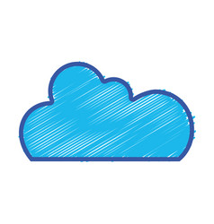 color cloud data network server connection vector image vector image