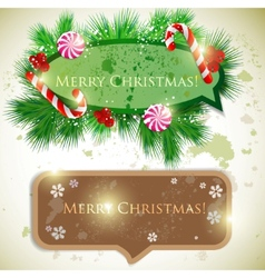 colorful bubbles for speech christmas design vector image vector image
