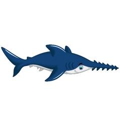 cute shark saws cartoon for you design vector image vector image