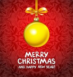 Golden realistic Christmas balls 2016 vector image