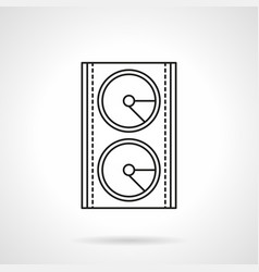 stage speakers system flat line icon vector image vector image