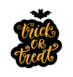 trick or treat halloween party poster vector image vector image