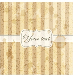 Vintage card with grunge background vector image vector image
