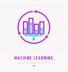 Ai or machine learning analysis big data vector
