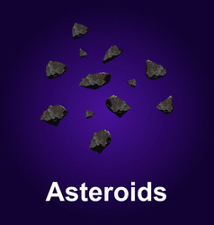 asteroids icon isometric style vector image
