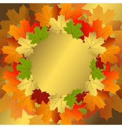 Autumn decorative floral frame vector