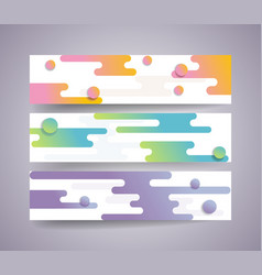 banner set with abstract shape background vector image
