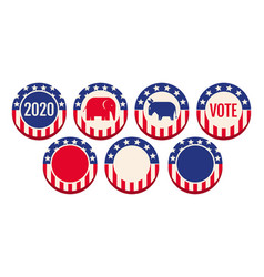 Banners for 2020 presidential election vector