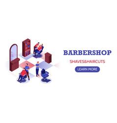 barbershop horizontal banner vector image
