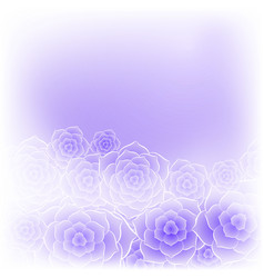 Beautiful purple rose flower background vector
