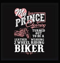 Biker wife vector