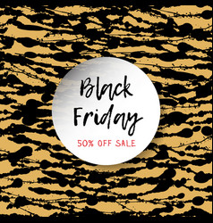 black friday blocks on the golden square - this vector image