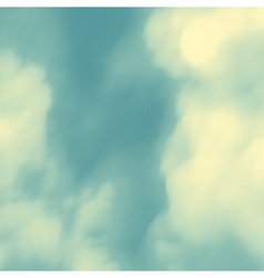 Blue Sky With Clouds Nature Background vector image