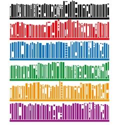 Books on bookshelf vector