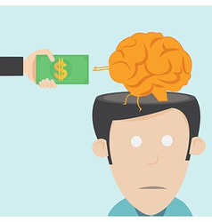 Brain drain The loss of talent vector