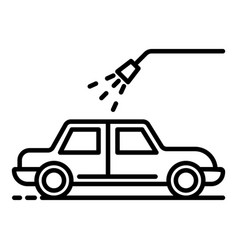 car water shower icon outline style vector image