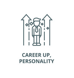 career uppersonality line icon career up vector image