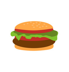 cheeseburger closeup object vector image