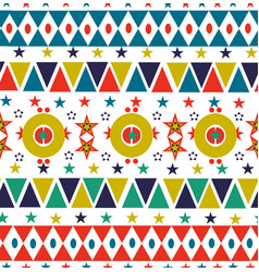 christmas retro folk holiday seamless pattern art vector image