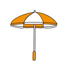 color silhouette image beach umbrella vector image
