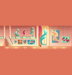 Contemporary art exhibition cartoon concept vector