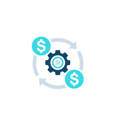Costs optimization efficiency icon vector