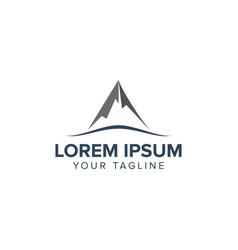 creative mountain logo design concept design vector image