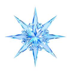 cute blue ice snowflake star vector image