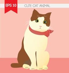 cute cat animal vector image