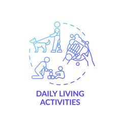 Daily living activities concept icon vector