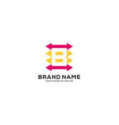Design logo letter b arrow vector