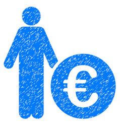 Euro investor grunge icon vector