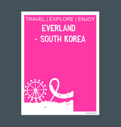 everland south korea yongin south korea monument vector image