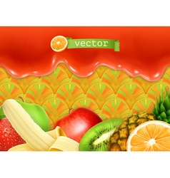 Fruity sweet background vector image