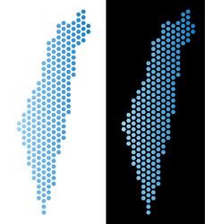 israel map honeycomb mosaic vector image