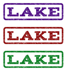 lake watermark stamp vector image