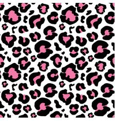 leopard skin hand drawn animal print drawing vector image