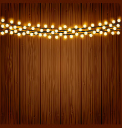 Lights on wood background vector