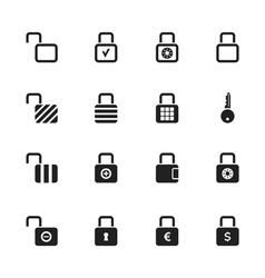 Lock icon2 vector image