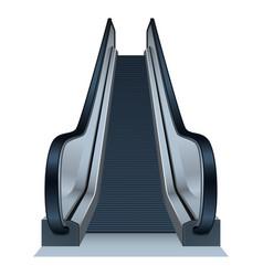 Mall escalator icon realistic style vector