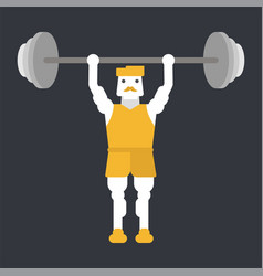 man doing weightlifting vector image