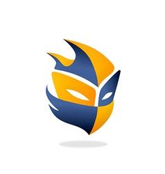 Mask halloween game logo vector