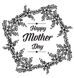 mother day lettering flower background vector image
