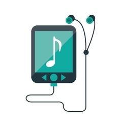 Mp3 device play music earphones vector