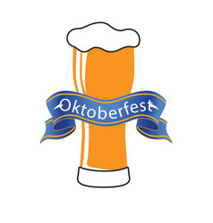 oktoberfest blue ribbon beer background ima vector image