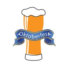 oktoberfest blue ribbon beer background ima vector image